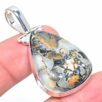 "Maligano Jasper Gemstone Handmade Ethnic Jewelry Pendant 1.93"" VS-2361"
