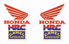HONDA HRC CAMEL SUPERCROSS Racing Decals / Stickers die cut lot of 2
