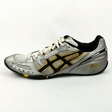 Asics Cross Country XC Running Shoes Mens Size 11.5 EUR 46 Silver Black HN635