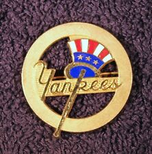 1960s Vintage New York Yankees Gold Filled Pin Hand Enameled Red White And Blue
