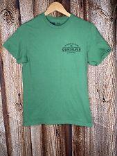 Quiksilver Regular Fit Spell Out Logo Green Short Sleeve Shirt Men's Size Small