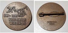Broschen-Anstecknadel 1100 Jahre Wedikon 889 - 1989 Stadtteil von Zürich Schweiz