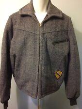 Vtg 40s 50s Wool Pilots Flight Jacket Coat Mens Xl Ricky Bomber Zip Up Work Wear