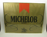 Michelob Beer Sign Beer Paper Advertising Gold Frame Man Cave 16 by 20 Inch