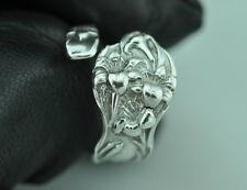 Beautiful 925 Sterling Silver Small Lily Flower Spoon Ring