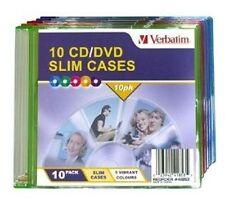 Verbatim CD/DVD Coloured Slim Cases - 10 Pack