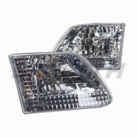 Euro Headlights for 1997-2003 Ford F-150 F-250 Expedition - Chrome/Clear