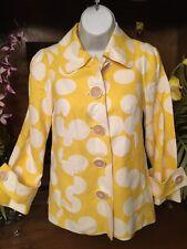 Lilly Pulitzer Yellow White Polkadot Blazer Jacket Summer Spring  Sz 0 Lined