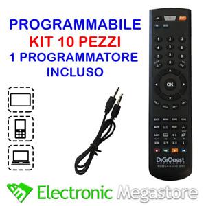Kit 10 telecomandi universali programmabili da computer program con made for you