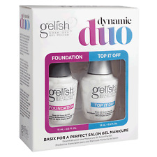 GELISH Harmony Dynamic DUO GEL SET Polish Foundation Base Top Coat AUTHENTIC NIB