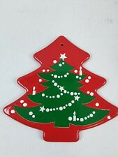 Christmas Tree Shaped Trivet Waechtersbach German Stoneware 10.5 x 10""