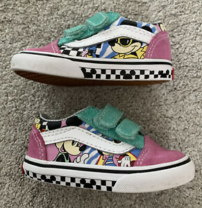 Excellent Condition Toddler Vans Disney Mickey & Minnie Riptape ShoesSize UK4.5