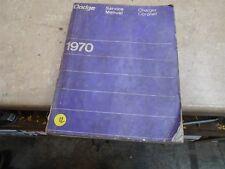 DodgeCharger Coronet Used Manual VP 1970 VP-CM12