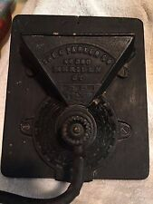 Antique Charles Parker Company No 360 Side Coffee Grinder / Mill