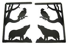 Howling Wolf & Eagle Shelf Bracket Set