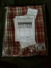 Victorian Heart Plaid Scalloped Valance 16x60 Curtains Rod Pocket