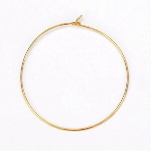 """100 GOLD Plated HOOPS ~ WINE Glass RINGS for CHARMS 25mm 1"""" No Lead No Nickel"""