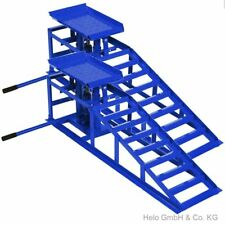 2x Auffahrrampe höhenverstellbar Wagenheber PKW blau Tragkraft je 2000 kg