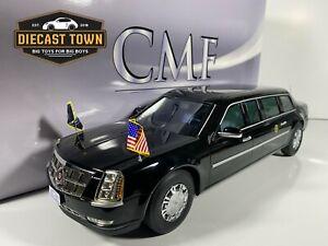 1:18 CMF 2009 Cadillac United States Presidential State Car Model Black LE 300