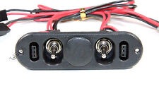 Heavy Duty RX Dual On/Off Switch W/ 4-Cable Lock, RC Servo, Engine  US 022-03303