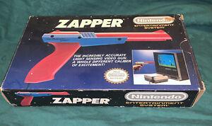 1989 NES Zapper – Orange – Nintendo Light Gun accessory with Original Box