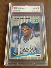 1989 Fleer Gary Sheffield #196 PSA NM-MT 8 Baseball Card