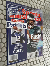 SPORTS ILLUSTRATED 2004 PRE-SELECT SPLIT COVER TOM BRADY/ MCNABB REGIONAL!