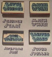 Teacher Sayings rubber stamps set of 4 by Amazing Arts