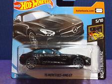 2018 Hot Wheels '15 MERCEDES-AMG GT. New Black NIGHTBURNERZ car. Short Card.