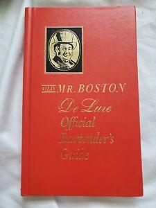 Old Mr. Boston De Luxe Official Bartender's Guide Hardcover Book 1963 VTG