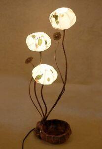Paper Leaf Shade Lantern Bedside Table Accent Unique Decorative Touch Light Lamp