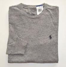 NWT Men's Ralph Lauren Long-Sleeve Tee, T-shirt, Crewneck, Gray, S, Small