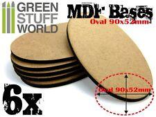 Basette in MDF OVALI AOS 90x52mm (spessore 3mm) Basi Figurini Veicoli Creature