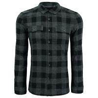 Kenneth Cole New York Men's Buffalo Check L/S Flannel Shirt Black M