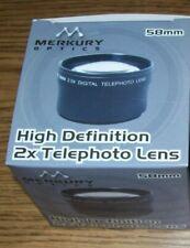 Merkury Optics Cl-58Tb hi-def 2x Telephoto add on lens 58mm thread made in Japan