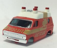 Nos Aurora Afx Rescue Van Body only, Red, Fits Afx Specialty (4Gear) Chassis