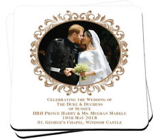 HRH Prince Harry & Ms Meghan Markle Wedding Day Kiss - Two Drink Coaster Set