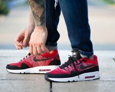 BNWB Nike Air Max 1 Ultra 2.0 Flyknit ® Red Trainers Left Size 10 Right Size 9.5