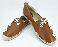 6cf510771f34d New Michael Kors Lola Womens 7 Brown Espadrille Flats Shoes Slip On Flowers  nwob