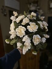 Wedding Bouquet Bridal Flowers Off White Beige Floral & Greenery Artificial Silk