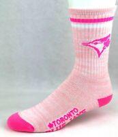 For Bare Feet Women's Toronto Blue Jays Pretty In Pink Crew Socks