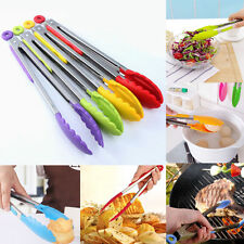 Practical Silicone Kitchen Food Clamp Serving Clip Tong Cooking Tools For BBQ
