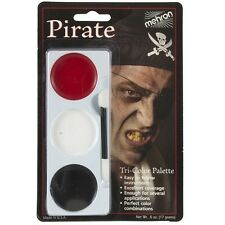 Mehron Tri-Colour Halloween Make Up Palette - Pirate