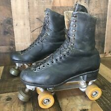 Vintage Riedell Red Wing Semi-Pro Roller Speed Skates Douglass Snyder Mens 11.5