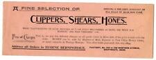 Antique 1894 Barber Clipper Shears Supply Catalog Brown & Sharpe Cincinnati Ohio