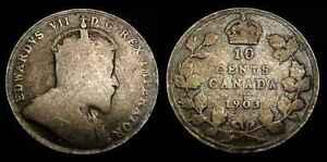 CANADA 1903 Silver Ten Cents G