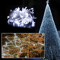 10M 100 LED Christmas White Wedding Party Decor Outdoor Fairy String Light Lamp