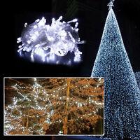 200 LED Christmas White Wedding Party Decor Outdoor Fairy String Light Lamp