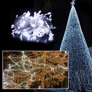 10M 100 LED Christmas White Wedding Party Decor Outdoor Fairy String Light Lamp