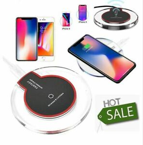 Qi Wireless Charger Charging Pad For iPhone 8, X XS, plus Samsung S6, S7 Edge S8